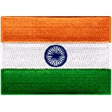 India Flag Embroidered Patch Indian Iron-On National Emblem