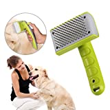 Homvik Cepillo para Perros Mascotas Autolimpiador de Pelo