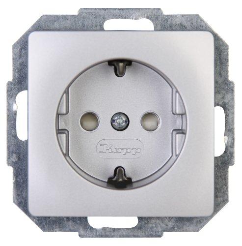 Preisvergleich Produktbild Kopp 920620089  Paris Schutzkontakt-Steckdose mit erhöhtem Berührungsschutz (silber)
