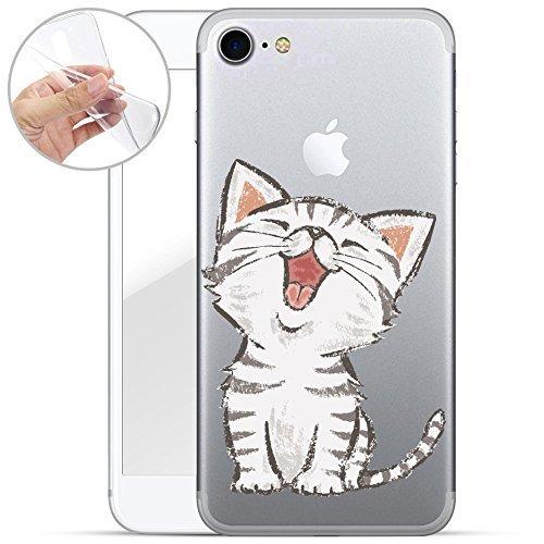 Finoo iPhone 7 TPU Handyhülle Made in Germany Hülle mit Motiv für Optimalen Schutz Silikon Tasche Case Cover Schutzhülle für Dein iPhone 7 - Kleine Katze