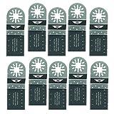 10 x 35 mm TopsTools UN35B_10 Metall schneiden Klingen für Bosch, Fein Multimaster, Multitalent, Makita, Milwaukee, Einhell, ergotools, Hitachi, Parkside, Ryobi, Worx, Workzone Multitool Multi Tool Zubehör