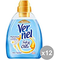 Set 12 VERNEL Ammorbidente Concentrato Soft&OIL BLU 750 Ml. Detergenti