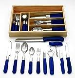 37-teiliges Starter-Set mit blauen Griffen, Serie MILANO