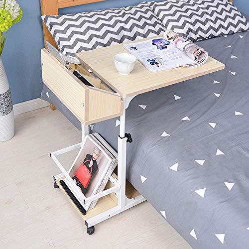 XUE Rolling Laptop Stand Computer Desk Cart für kleine Räume WorkstationTable Ergonomischer Laptop-Schreibtisch-Tisch Bequeme Tischablage für Zuhause und Büro Stopper Ledge (Ergonomische Computer-cart)