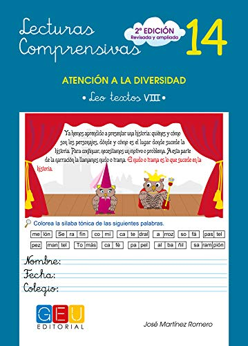Lecturas comprensivas 14 - Leo Textos VIII por José Martínez Romero