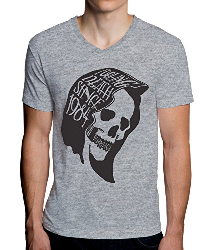 MaikesTic Fooling Death Since 1984 Design Men's V-Neck T-Shirt XX-Large -