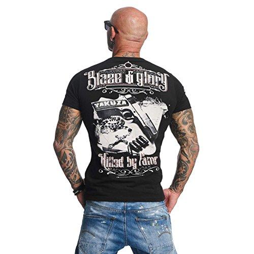 Yakuza Original Herren Blaze N Glory T-Shirt Schwarz