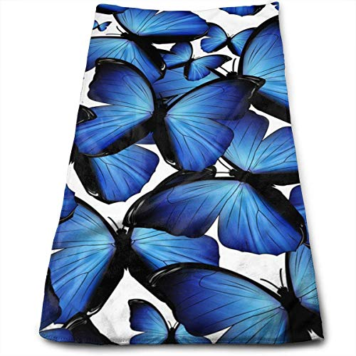 ewtretr Asciugamani Viso-Mani,Beautiful Butterfly Microfiber Beach Towel Large & Oversized - 11.8'X27.5' Towels, Best for Outdoor, Sports, Travels, Quick Drying And Super Absorbent Technology