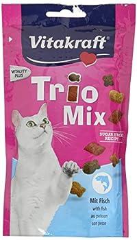 VITAKRAFT Trio Mix Poisson Friandise pour Chat 60 g - Lot de 4