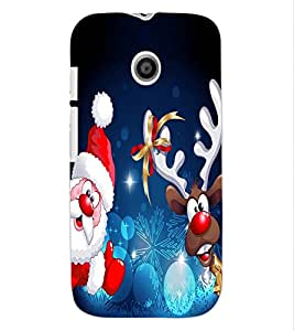 ColourCraft Christmas Image Design Back Case Cover for MOTOROLA MOTO E