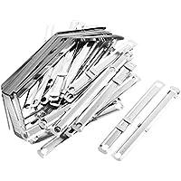 sourcingmap a12101800ux0509 -  40 Dientes de metal para Archivos con Sujetadores de papel, Gris (Silver Tone)