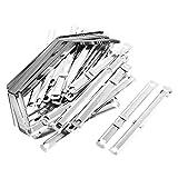 Lot de 50dossiers en métal argenté à documents papier clip attache