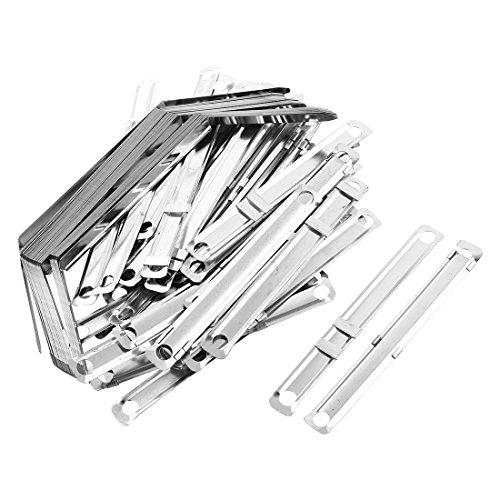 sourcingmap a12101800ux0509-40 Dientes de metal para Archivos con Sujetadores de papel, Gris (Silver Tone)