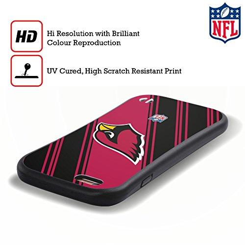 Ufficiale NFL Righe 2017/18 Arizona Cardinals Case Ibrida per Apple iPhone 6 / 6s Righe