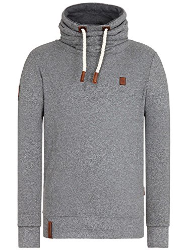 Herren Sweater Naketano The Supa Schniedels II Sweater opa melange