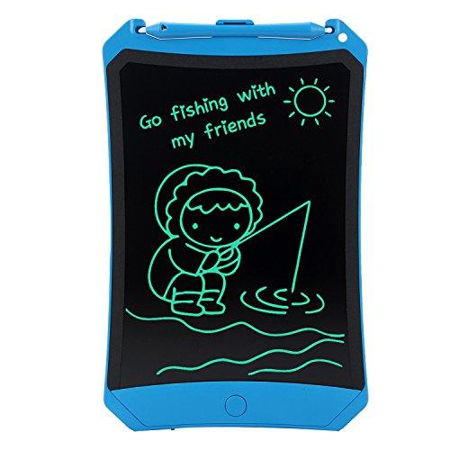 HUIXIANG Schreibtafel LCD Writing Tablet 8,5 Zoll mit Schloss Bunte Elektronischer Notizblock Schreiben Tablette Digitaler Drawing Pad Grafiktablet Kinder Junge Mädchen (Blau)