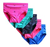 #6: Elk Kids Baby Girls Printed Bright Panty Brief Innerwear 5 Piece Combo