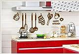 Herramienta de cocina Vajilla Decorativos Pegatinas de Pared Decoraciones para el hogar para el Mercado Tienda de Alimentos Decoración PVC Diy Feliz Cocina Mural Art Decals