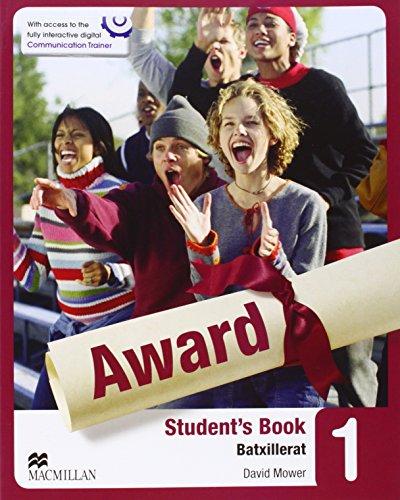 Award 1- Sudent's Book (Batxillerat)