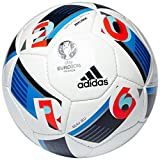 adidas Herren Ball EURO 2016 Replique, White/Bright Blue/Night Indigo, 5, AC5430