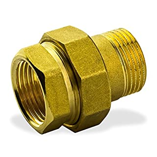 Stabilo-Sanitaer Messing Fitting Verschraubung 1 Zoll DN25 IG/AG Rohrverschraubung Gewindefitting
