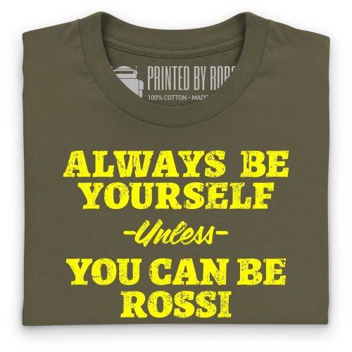 Always Be Rossi T-Shirt, Herren Olivgrn
