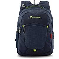 """Harissons Bags Delta 39 L Polyester Navy Blue 15.6"""" inch Laptop Backpack 