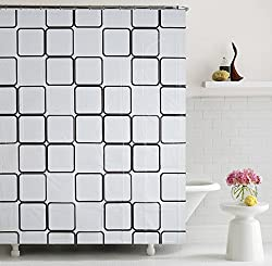 Home Candy Elegant Squares PEVA Shower Curtain - 70