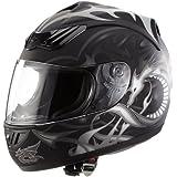 Protectwear H510-11SW-M Casque de Moto Intégral avec Motif de Dragon, Noir Mat, Taille M
