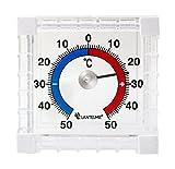 Fensterthermometer Temperaturanzeige + / - 50 °C Haus - Fenster - Aussen - Garten - Klebe Thermometer Bimetall und Analog