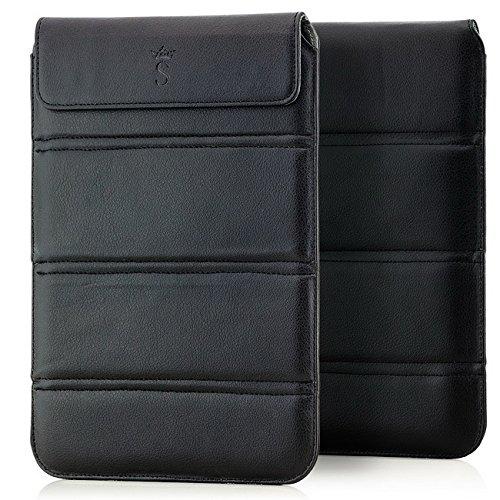 Saxonia Tablet Tasche Case faltbar im Hochformat, Schutztasche Universal für Tablet oder Dokumente von 9 bis 10 Zoll Schwarz