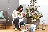 Baby Art Bastelset: Weihnachtskugel für Handabdruck und Namen des Kindes  zum Selbstbemalen, matt rot -