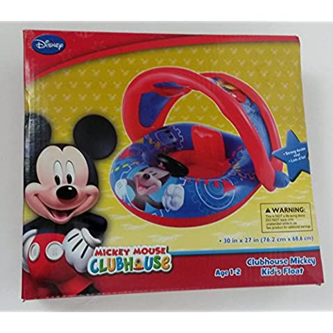 Disney Mickey Mouse Inflatable Kids Float with Optional Sun Cover Canopy by Disney