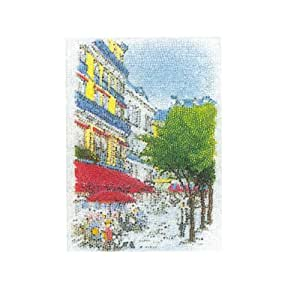 """Hand work of Hamanaka adult """"bead painting"""" Starter Kit [M] / Paris Cafe full color type (japan import)"""