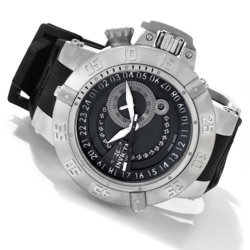 Invicta Subaqua Noma III Sport GMT Stainless Steel Polyurethane Strap Mens Watch 0325 image