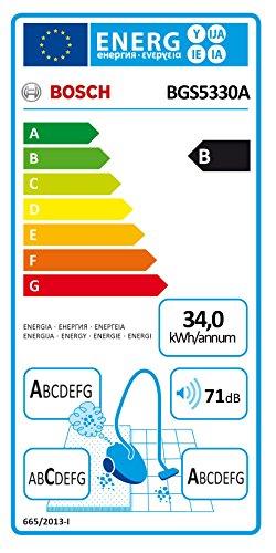 Bosch BGS5330A Bodenstaubsauger Relaxx'x ProSilence Plus EEK B (beutellos, SensorBagless Technology, 71 dB(A), QuattroPower System) dark navy -