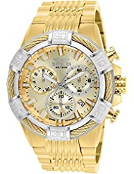 Invicta Bolt gold-tone Steel Bracelet & case Quartz Analog Watch 25868