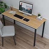 soges Arbeitstisch Schreibtisch Computertisch PC Tisch aus Holzwerkstoffen mit großen Tischoberfläche für Zuhause Büro Seminar usw,138x60CM,Oak
