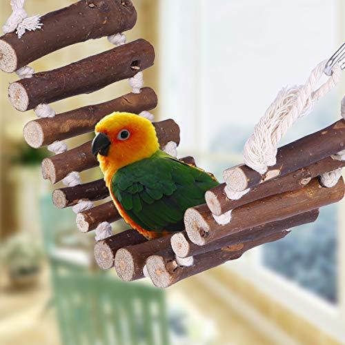 UEETEK Grassottelle scaletta di corda uccello giocattolo Ponte flessibile Swing scaletta per pappagalli Animali Trainning