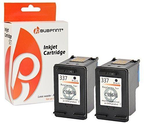 Bubprint 2 Druckerpatronen kompatibel für HP 337 HP337 für Deskjet 5900 5940 5950 6940 6980 Officejet 100 150 Mobile 6300 6310 6315 H470 K7100 Black (100 Printer Mobile Hp)