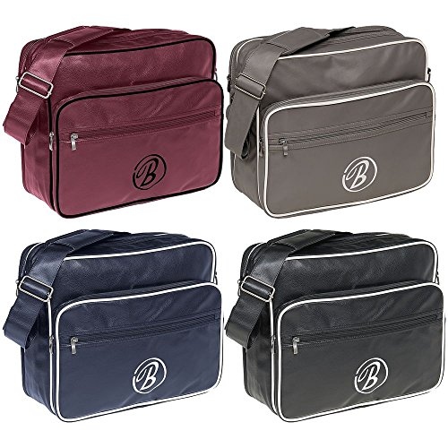 bordeaux Brandit Collegebag Messenger Bag borsa a tracolla borsa per PC portatile