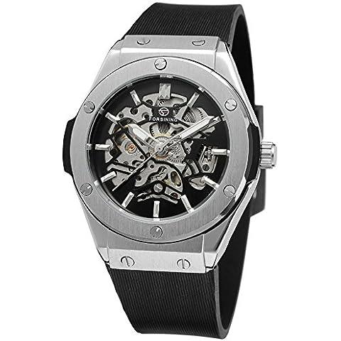 GuTe Uomo Sport Style automatico scheletro orologio