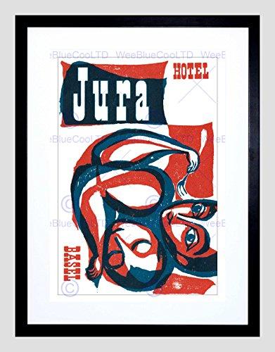 Preisvergleich Produktbild AD HOTEL JURA BASEL SWITZERLAND TRAVEL RED BLUE SLEEPING EATING PRINT B12X5904
