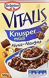 Dr. Oetker Vitalis Knuspermüsli Nuss-Nougat: Knuspermüsli mit Nuss-Nougat, 7er Packung (7 x 500g)