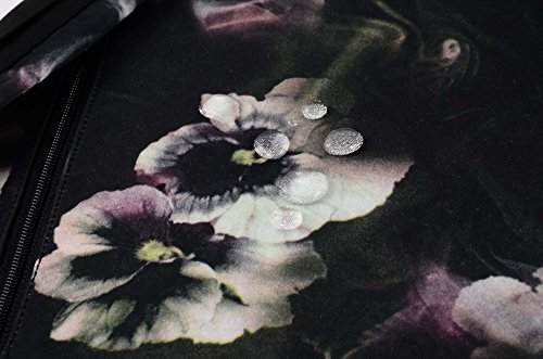 HotStyle Blumen Laptoprucksäcke 18L - Wasserdichte 2-Wege-Trage-Rucksack - Schwarz