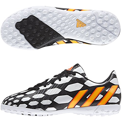 Predator Absolado Instinct TF WC Enfants - Chaussures de Foot Noir/Orange Fluo/Blanc white