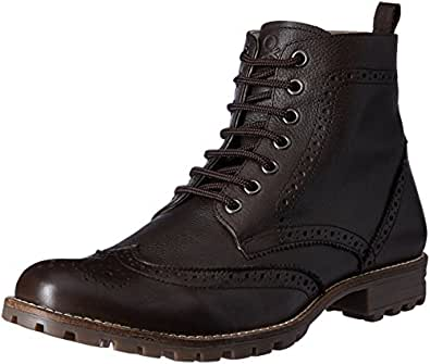 United Colors of Benetton Men's Dark Brown (901) Leather Boots - 10.5 UK/India (45 EU)