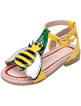 PAOLIAN Zapatos Para Niñas Verano Playa Sandalias de Vestir Antideslizante Zapatos de Cordones Suela Blanda Pequeña...