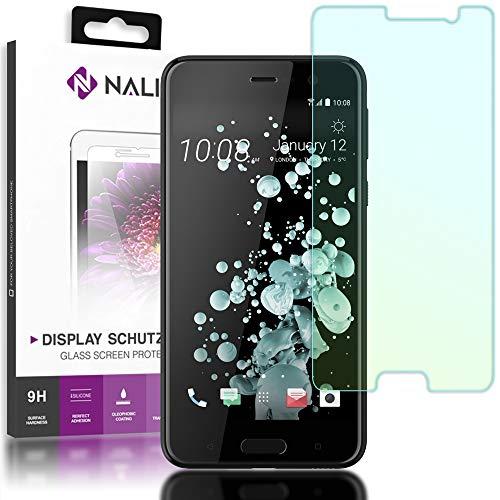 NALIA Schutzglas kompatibel mit HTC U Play, 9H Härte Glas-Schutzfolie Bildschirmschutz Hüllen-Kompatibel, Handy-Folie Display Schutz-Film Smart-Phone HD Screen Protector Tempered Glass - Transparent