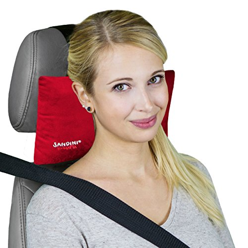 SANDINI RelaxFix – Ergonomisches Auto Nackenkissen/ Autonackenstütze/ Nackenstütze Auto – VIELE FARBEN – Entspanntes Anlehnen/ Zurücklehnen im Auto – Designed in Germany/ Made in EU